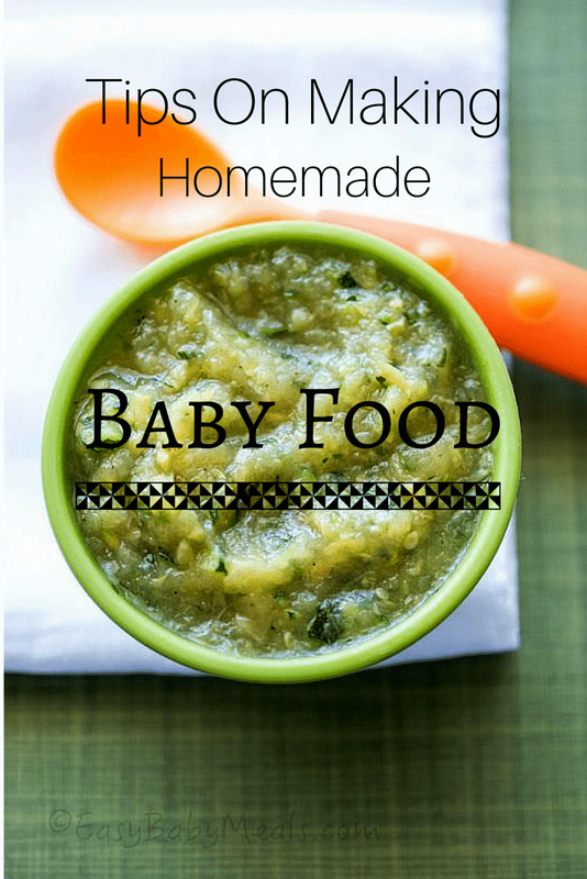 Tips on making homemade baby food.