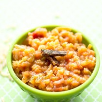Brown Rice With Vegetables- Easy Baby Meals-www.easybabymeals.com