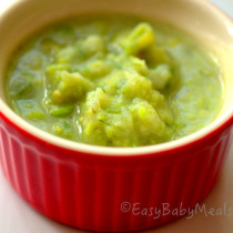 Peas And Potatoes With Leeks- Easy Baby Meals-www.easybabymeals.com