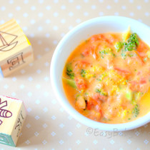 Cheesy Tomatoes With Broccoli-Easy Baby Meals-www.easybabymeals.com