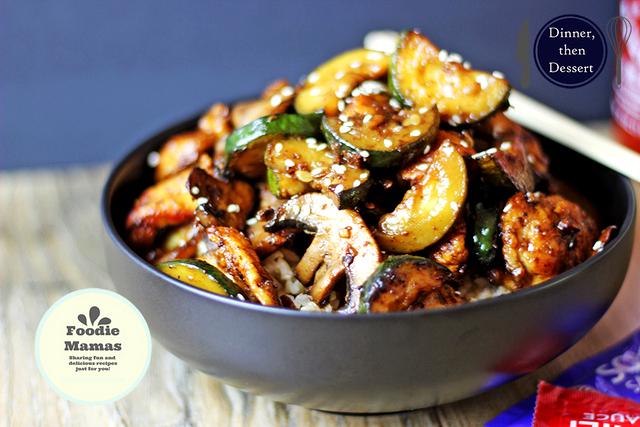 Zucchini & Mushroom Chicken Foodie Mamas (1)