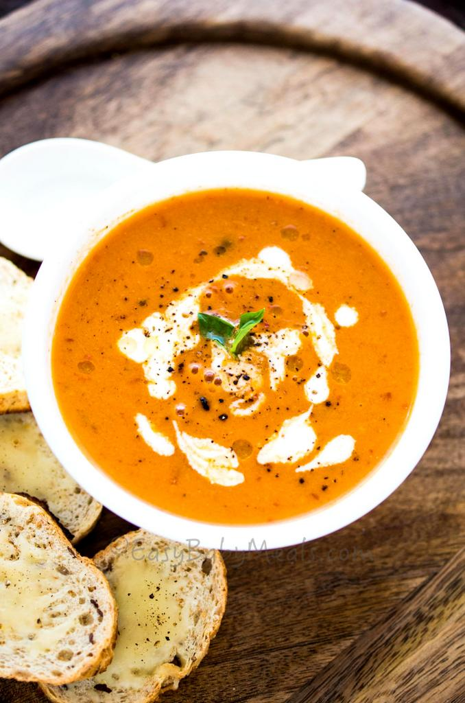 Roasted Tomato And Basil Soup1