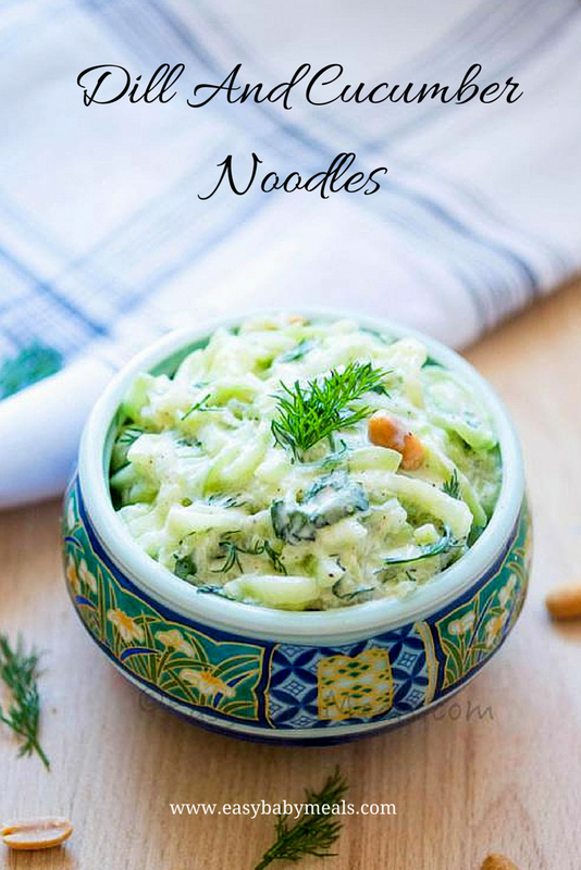 Dill And Cucumber Noodles