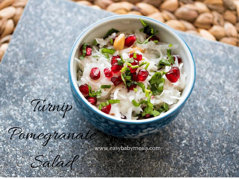 Turnip Pomegranate Salad