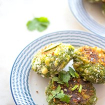 Spinach Corn Tikkis- Easy Baby Meals-www.easybabymeals.com