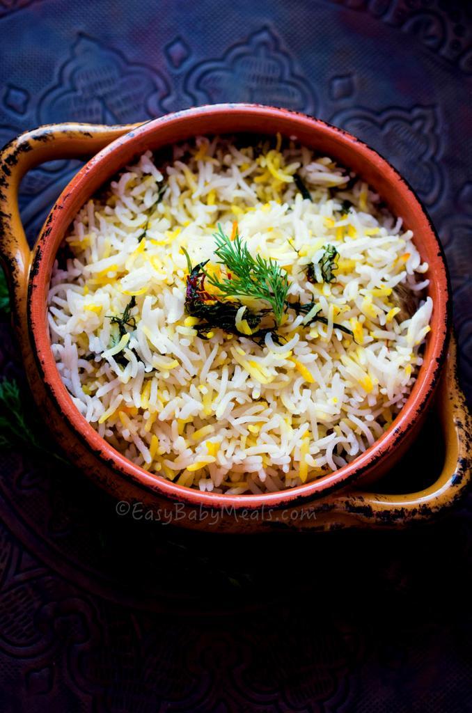 Lemon Dill Rice Pilaf- Easy Baby Meals-www.easybabymeals.com