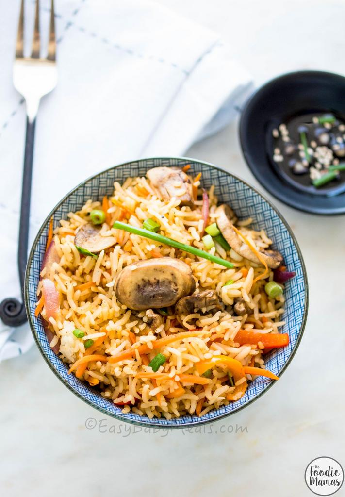 Quick Mushroom Fried Rice