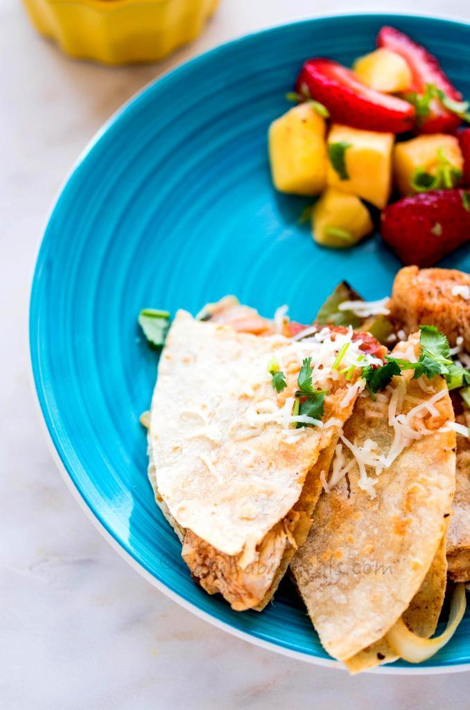 Chicken Quesadillas- www.easybabymeals.com