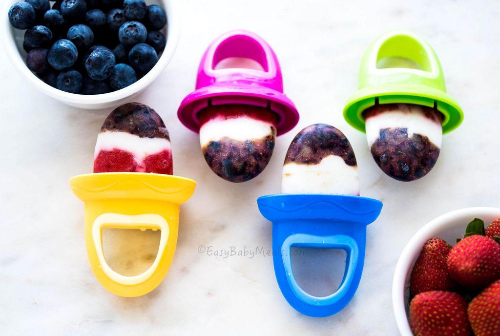 Berry Yogurt Popsicles Easy Baby Meals Www Easybabymeals Com