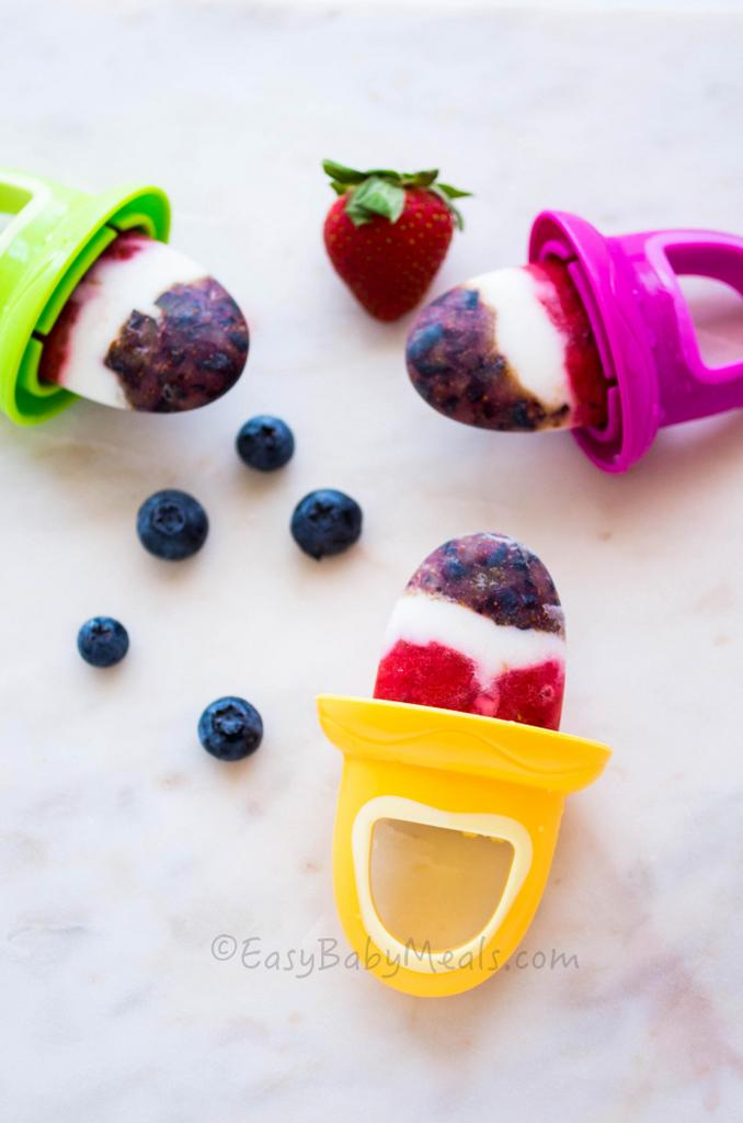 Berry Yogurt Popsicles | Easy Baby Meals