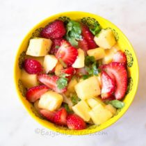 Quick Mango Strawberry Salsa- Easy Baby Meals