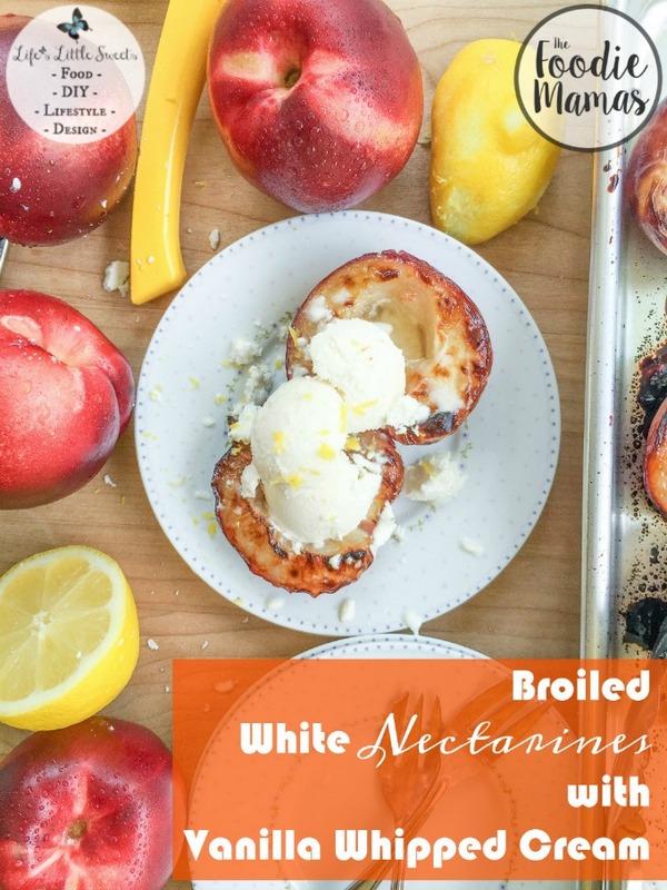 Broiled White Nectarines with Vanilla Whipped Cream www.lifeslittlesweets.com Sara Maniez 680x907