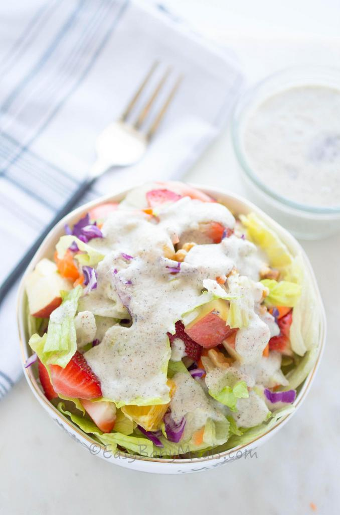 Quick Salad WIth Poppy Seed Dressing