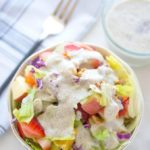 Quick Salad With Poppy Seed Dressing- Easy Baby Meals-www.easybabymeals.com