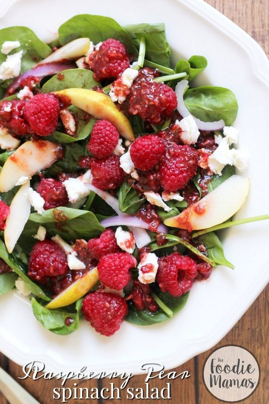 raspberry-pear-spinach-salad-850x1275-foodie-mamas