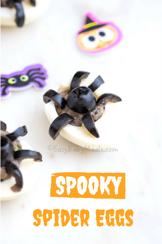 Spooky Spider Eggs-www.easybabymeals.com