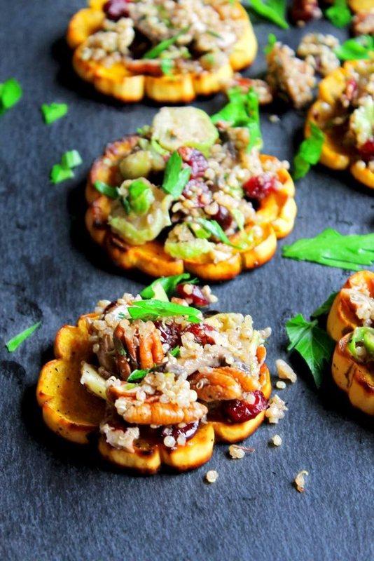 quinoa-stuffed-delicata-squash-rings-with-mushrooms-cranberries-and-pecans-6801