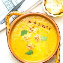 Pumpkin Spiced Sweet Potato Apple Soup