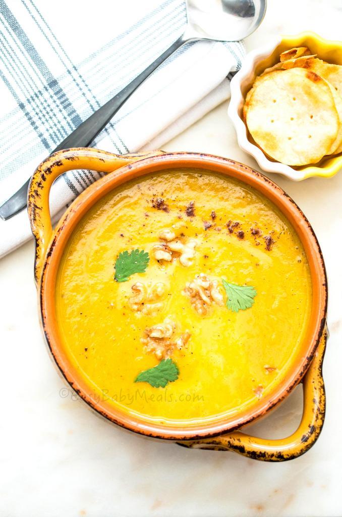 Pumpkin Spiced Sweet Potato Apple Soup