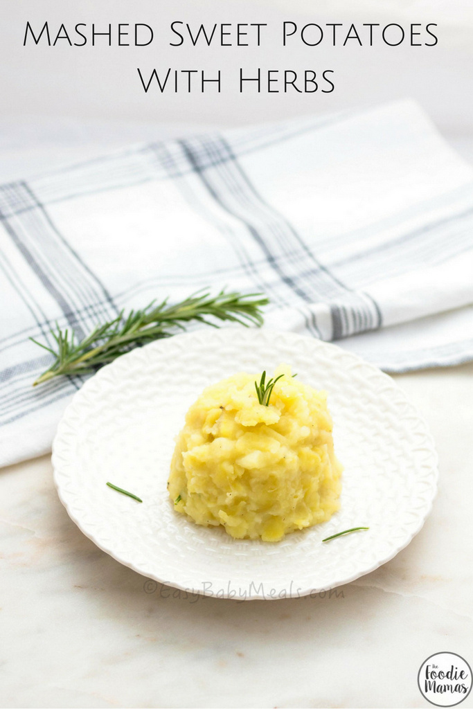 Mashed Sweet Potatoes With Herbs