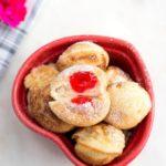 Cherry Stuffed Pancake Bites