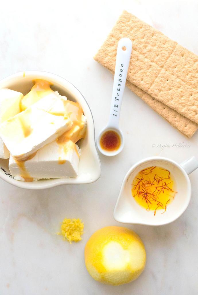 Lemon Saffron Cheesecake Cups