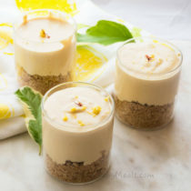 Lemon Saffron Cheesecake Cups