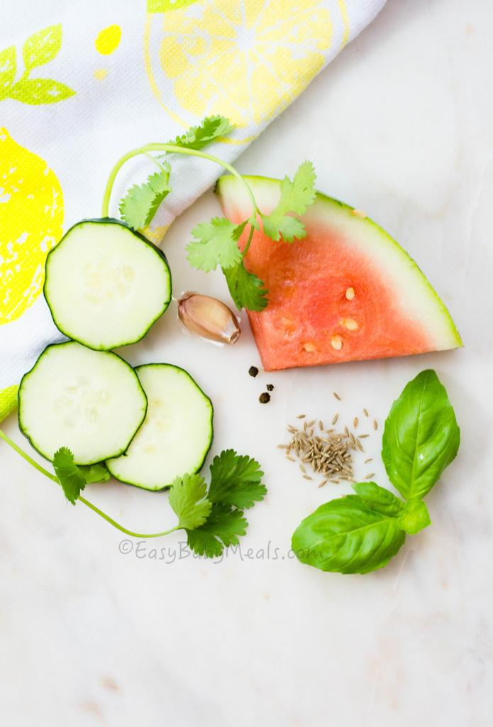 Watermelon Gazpacho- Summer Soup
