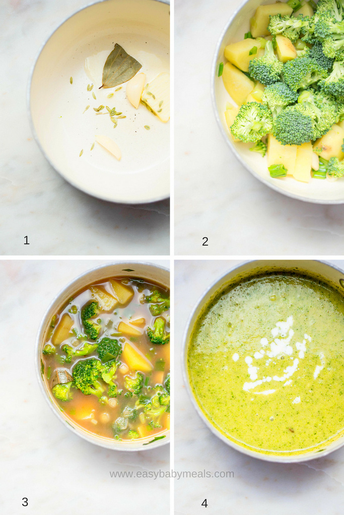Cream Of Broccoli Soup- Easy Baby Meals