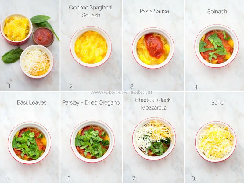 Spaghetti Squash Casserole-Individual sized portions.
