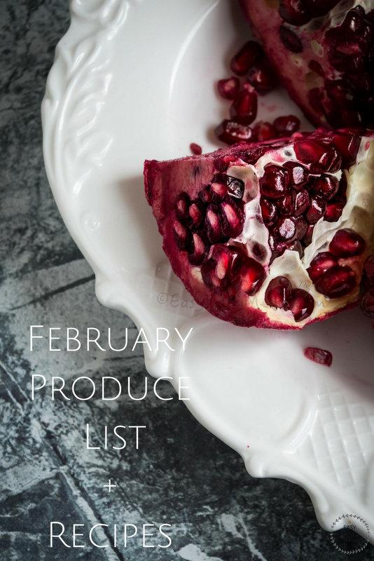 February Produce List+Recipes- Easy Baby Meals