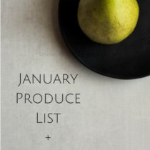 January Produce List+Recipes- Easy Baby Meals-www.easybabymeals.com