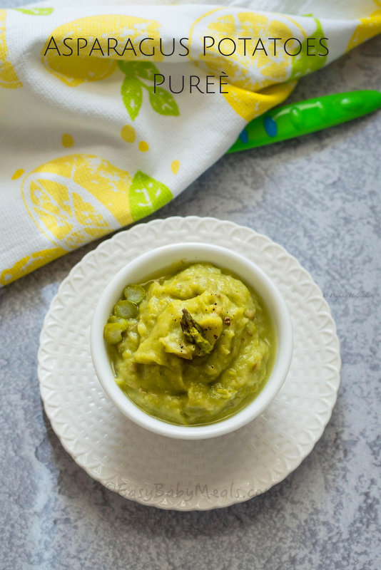 Asparagus potatoes pure easy baby meals asparagus potato puree is a perfect springtime meal to introduce to your babies 10 months and above forumfinder Choice Image