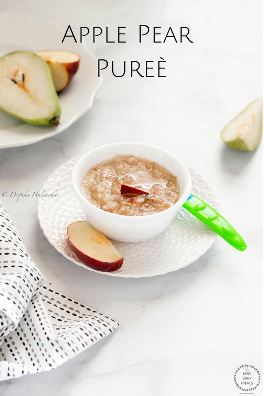 Apple Pear Puree- Easy Baby Meals-www.easybabymeals.com