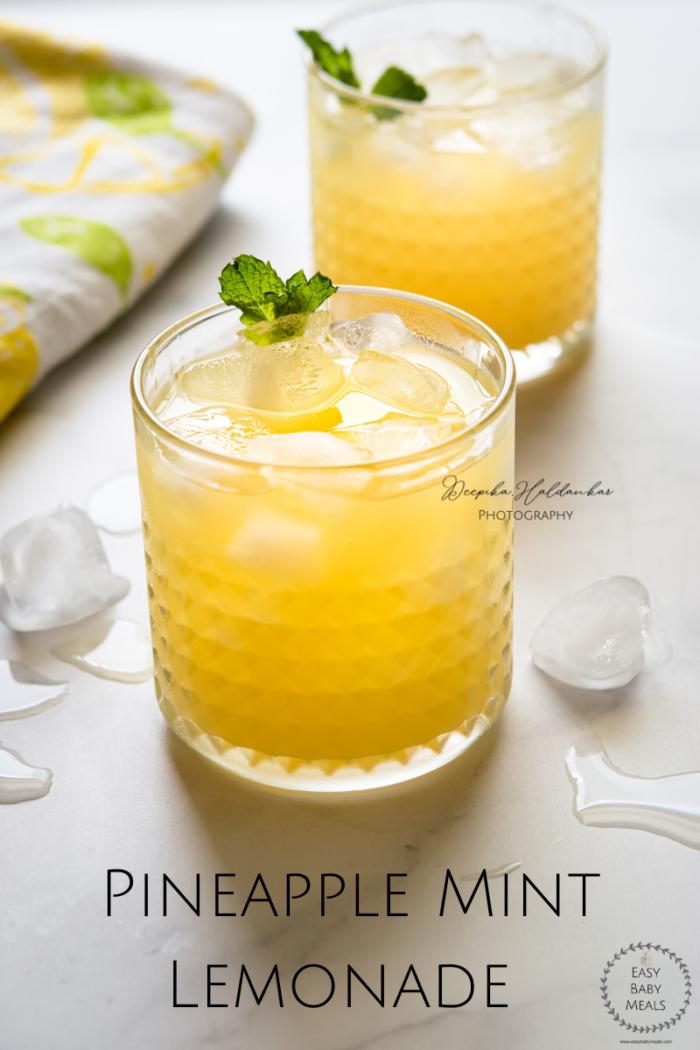 How to make Pineapple Mint Lemonade